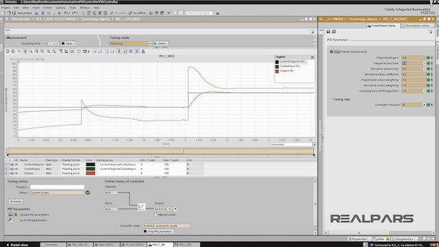 8. Testing the PID Control Loop with the PLC Simulator