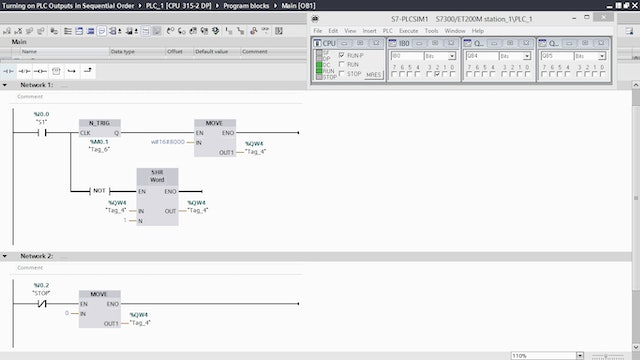180. Turning on PLC Outputs in Sequential Order – Part 6
