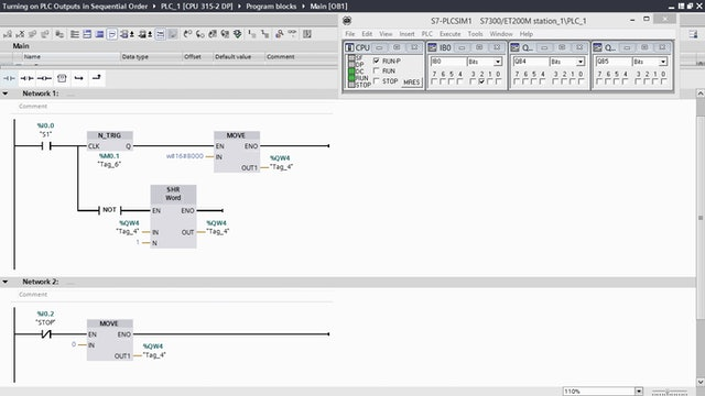 11. Turning on PLC Outputs in Sequential Order – Part 6