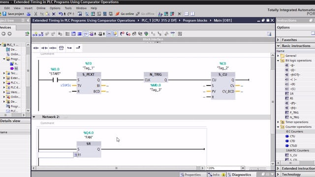 122. Extended Timing in PLC Programs Using Comparator Operations - Part 1