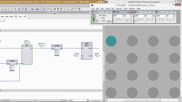 10. Turning on PLC Outputs in Sequential Order – Part 9