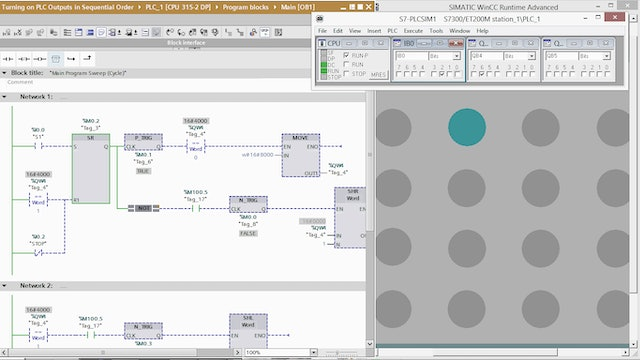 9. Turning on PLC Outputs in Sequential Order – Part 8