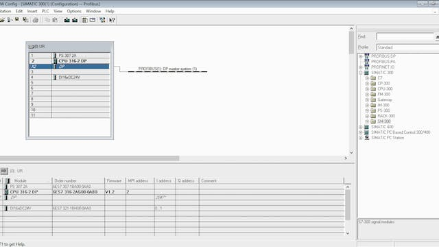 3. Software Setup for Profibus-DP- Part 1