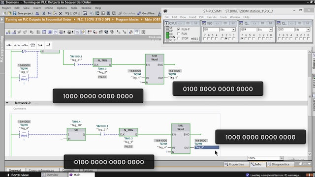 207-2. Turning on PLC Outputs in Sequential Order – Part 11