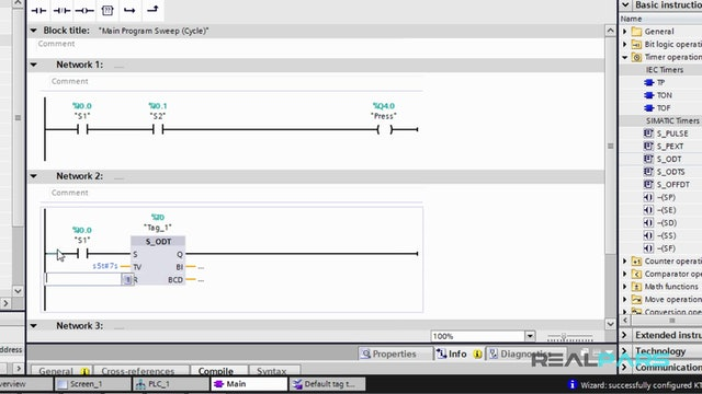 17. Writing a PLC Program in STEP 7 V13 (TIA Portal)
