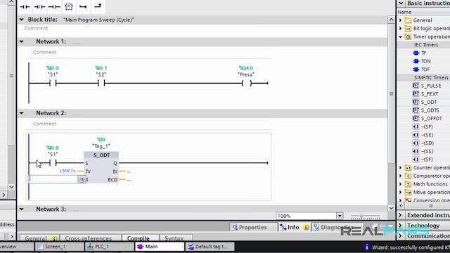 80. Writing a PLC Program in STEP 7 V13 (TIA Portal)