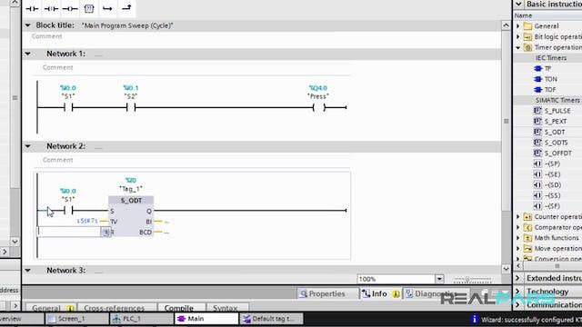 80. Writing a PLC Program in STEP 7 V13 (TIA Portal)