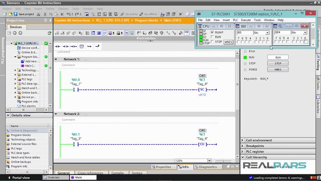 107. Counter Bit Instructions in PLC Programming