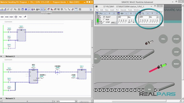 116  Material Handling PLC Program _ Part 3 - Comparing Values in