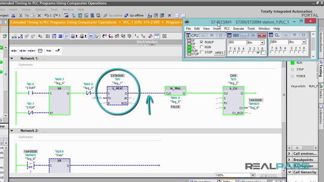 124. Extended Timing in PLC Programs Using Comparator Operations - Part 3