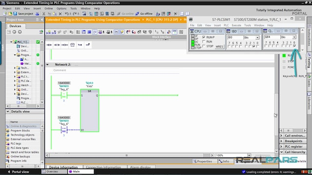 125. Extended Timing in PLC Programs Using Comparator Operations - Part 4