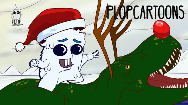 Narwhal Yeti show Christmas 2: this time there's a Dinosaur.