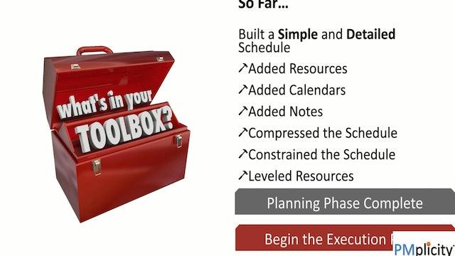 Chapter 15 Sneak Peak - Executing your Schedule