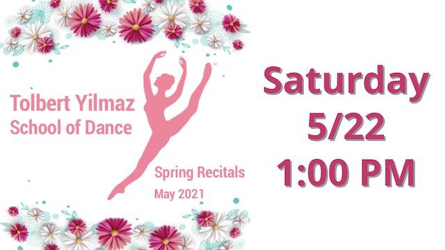 Saturday 5/22 1:00 PM
