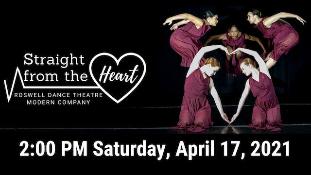 Straight from the Heart: Saturday 4/17/2021 2:00 PM