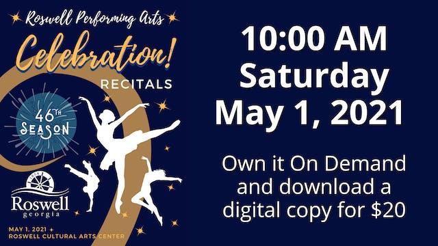 Celebration! 5/1/2021 10:00 AM
