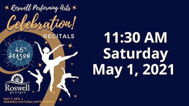 Celebration! Saturday 5/1/2021 11:30 AM