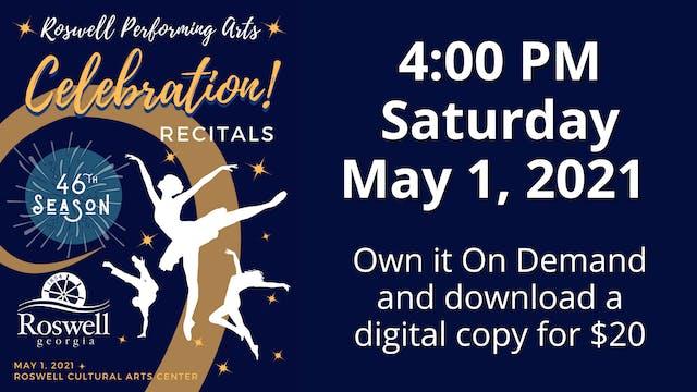 Celebration! 5/1/2021 4:00 PM