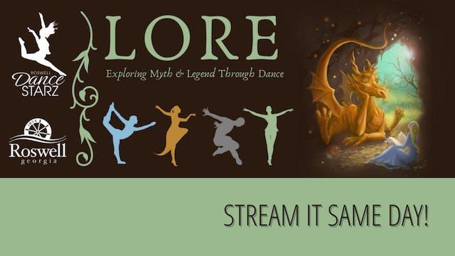 Roswell Dance Starz: LORE Saturday 3/20/2021 3:00 PM