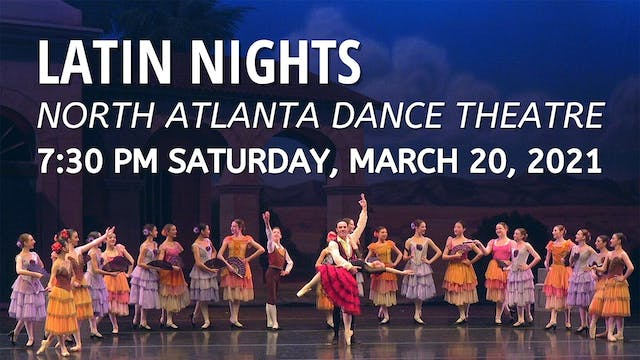 Latin Nights Saturday 3/20/2021 7:30 PM