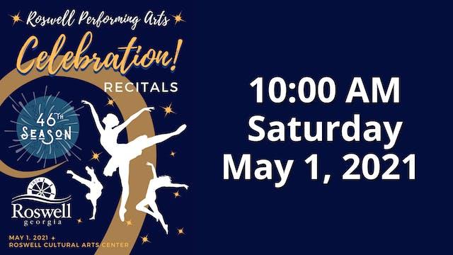 Celebration! Saturday 5/1/2021 10:00 AM