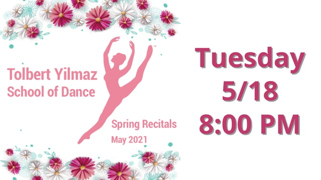 Tuesday 5/18 8:00 PM
