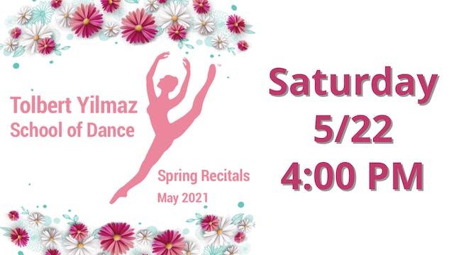 Saturday 5/22 4:00 PM