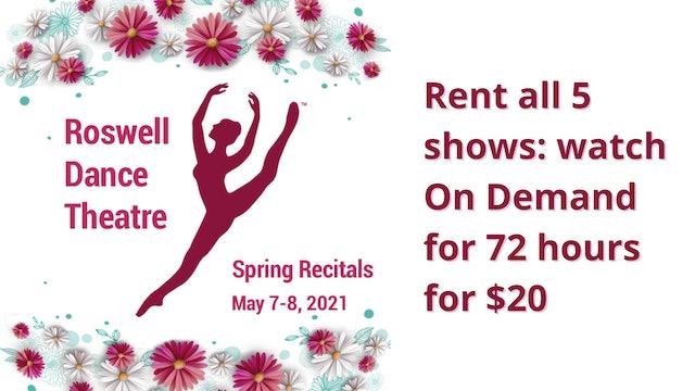 Rent the RDT 2021 Spring Recitals