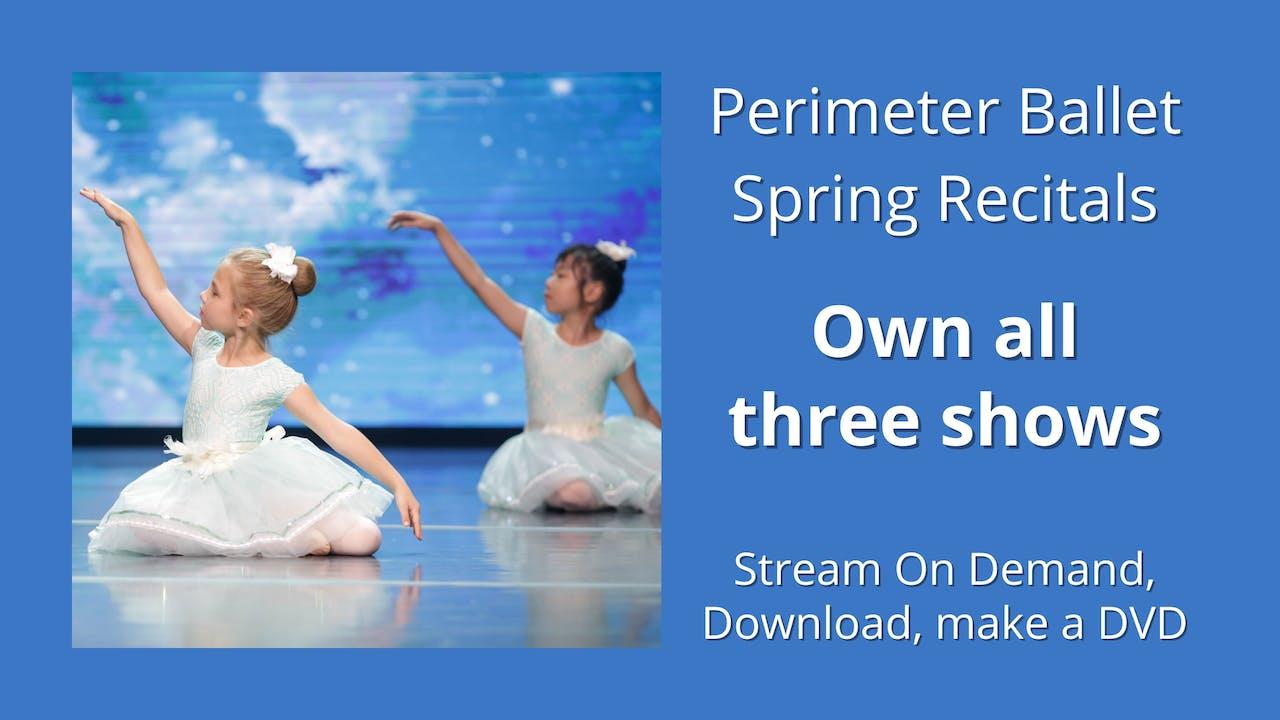 Perimeter Ballet: Own all 3 2021 Spring Recitals!