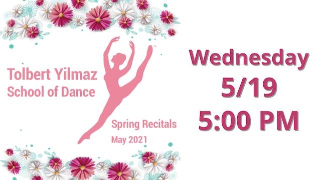 Wednesday 5/19 5:00 PM