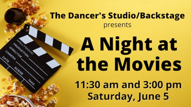 DVD Image File for A Night at the Movies: Saturday 6/5/2021 11:30 AM and 3:00 PM
