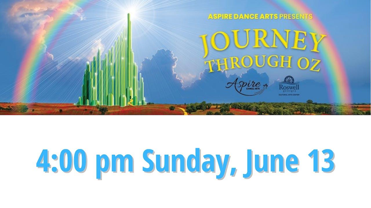 Journey Through Oz 6/13/2021 4:00 PM