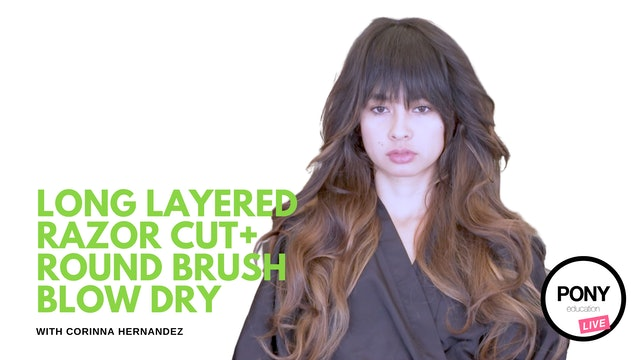 Long Layered Razor Cut, Sexy Blow Out on Dense, Multi-Textured Hair