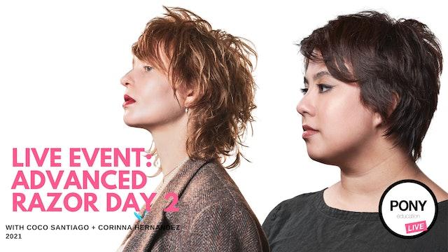 LIVE FOOTAGE: Advanced Razor Cutting Day 2 w/ Coco Santiago & Corinna Hernandez