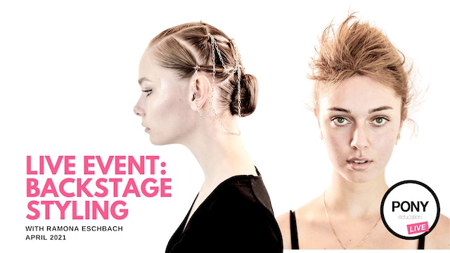 LIVE FOOTAGE: Backstage Styling with Ramona Eschbach