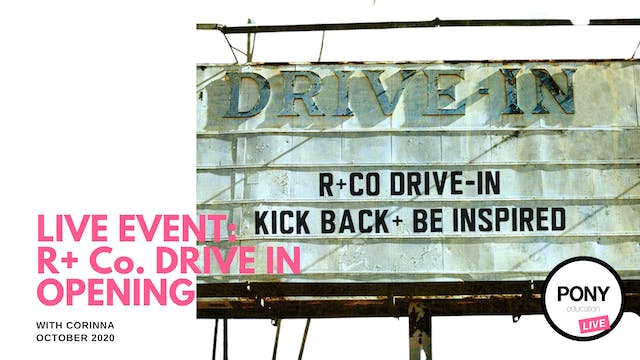 LIVE FOOTAGE: R+Co Drive-In Live Stre...