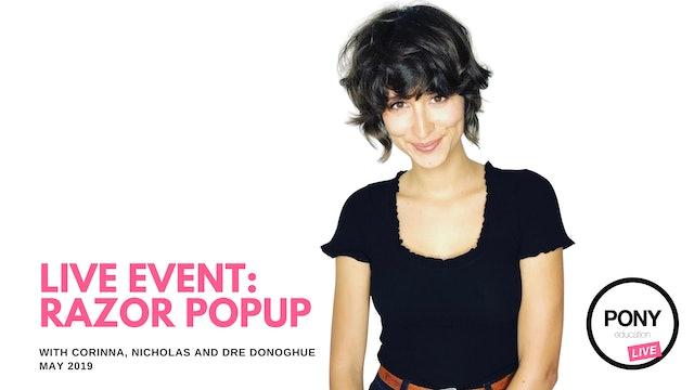 LIVE FOOTAGE: Razor Popup: Demos By Corinna  + Nicholas + Dre Donoghue