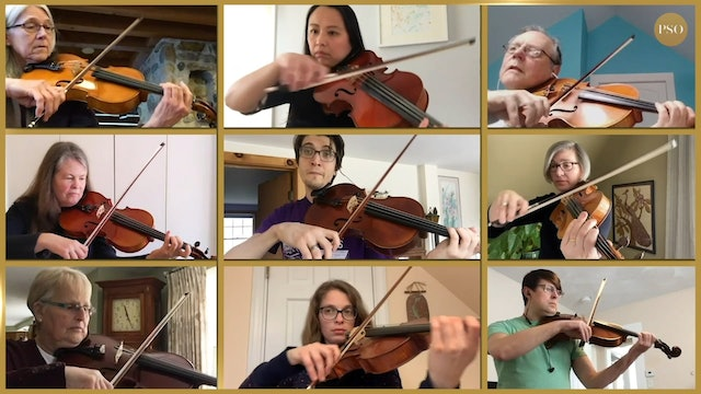 Notes From Home featuring the PSO viola section