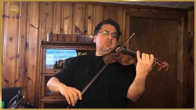 Notes From Home featuring Wilson Pedrazas, first violin