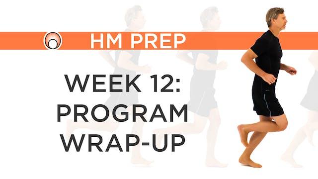 Week 12 - Program Wrap-Up