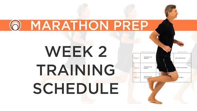 Week 2 Training Schedule