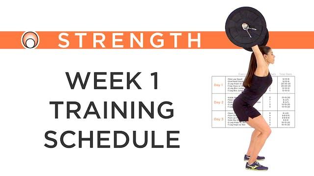 Week 1 Training Schedule