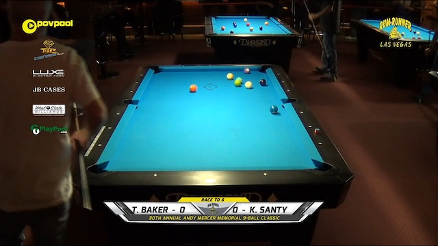 #1 - Andy Mercer 9-Ball - Tommy BAKER vs Kings SANTY / 2020