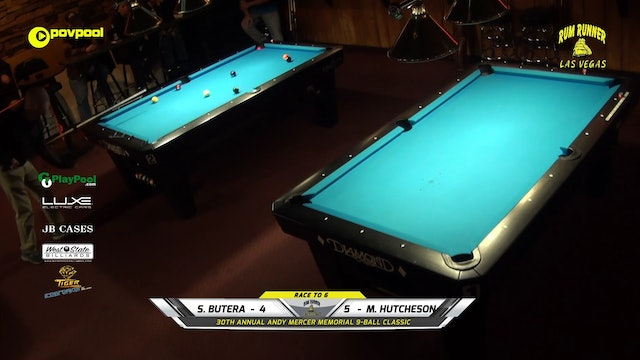 #15 Andy Mercer 9-Ball - Sal BUTERA vs Mike HUTCHESON / 2020
