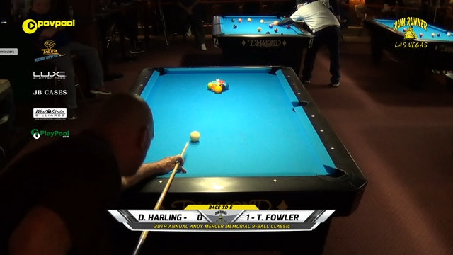 #3 - Andy Mercer 9-Ball - Dancer HARLING vs Todd FOWLER / 2020