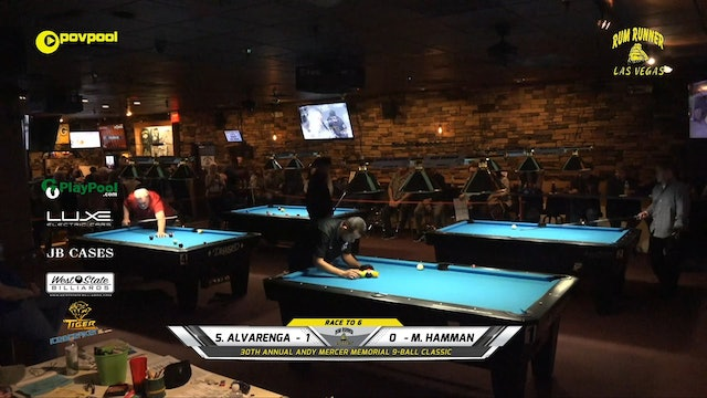 #11 Andy Mercer 9-Ball - Santos ALVARENGA vs Mike HAMMAN / 2020