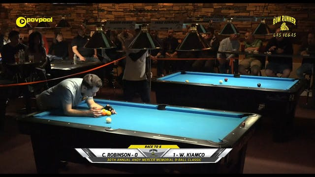 #22 Andy Mercer 9-Ball - Chris ROBINS...