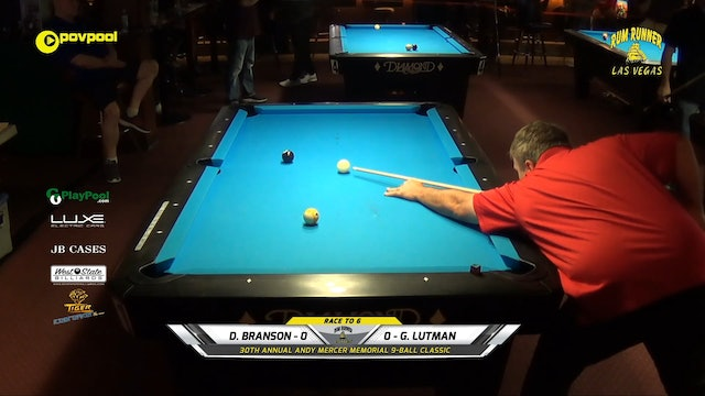 #17 - Andy Mercer 9-Ball - Donnie BRANSON vs Gary LUTMAN / 2020
