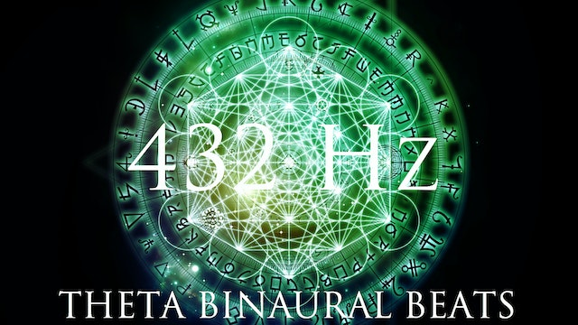 DEEP Theta Binaural Beats ➤ LET GO of Fear, Overthinking & Worries ➤ 432Hz Deep Relaxation