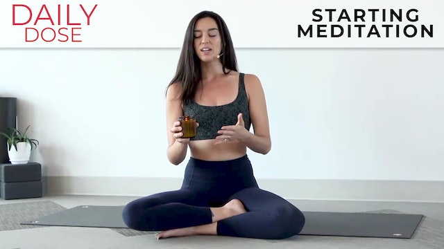 Julia Marie: Daily Dose - Starting a Meditation Practice